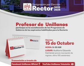 Profesor de Unillanos: Participa en la socialización de los programas de gobierno de los aspirantes habilitados para la Rectoría