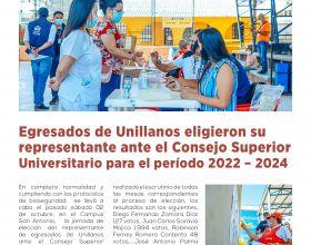Egresados de Unillanos eligieron su representante ante el Consejo Superior Universitario para el periodo 2022 - 2024