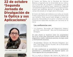 22 de octubre  'Segunda Jornada de Divulgación de la Óptica y sus Aplicaciones'