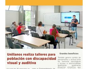 Unillanos realiza talleres para población con discapacidad visual y auditiva
